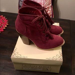 Brand New Burgundy Booties Size 6